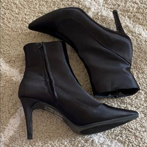 High heel booties